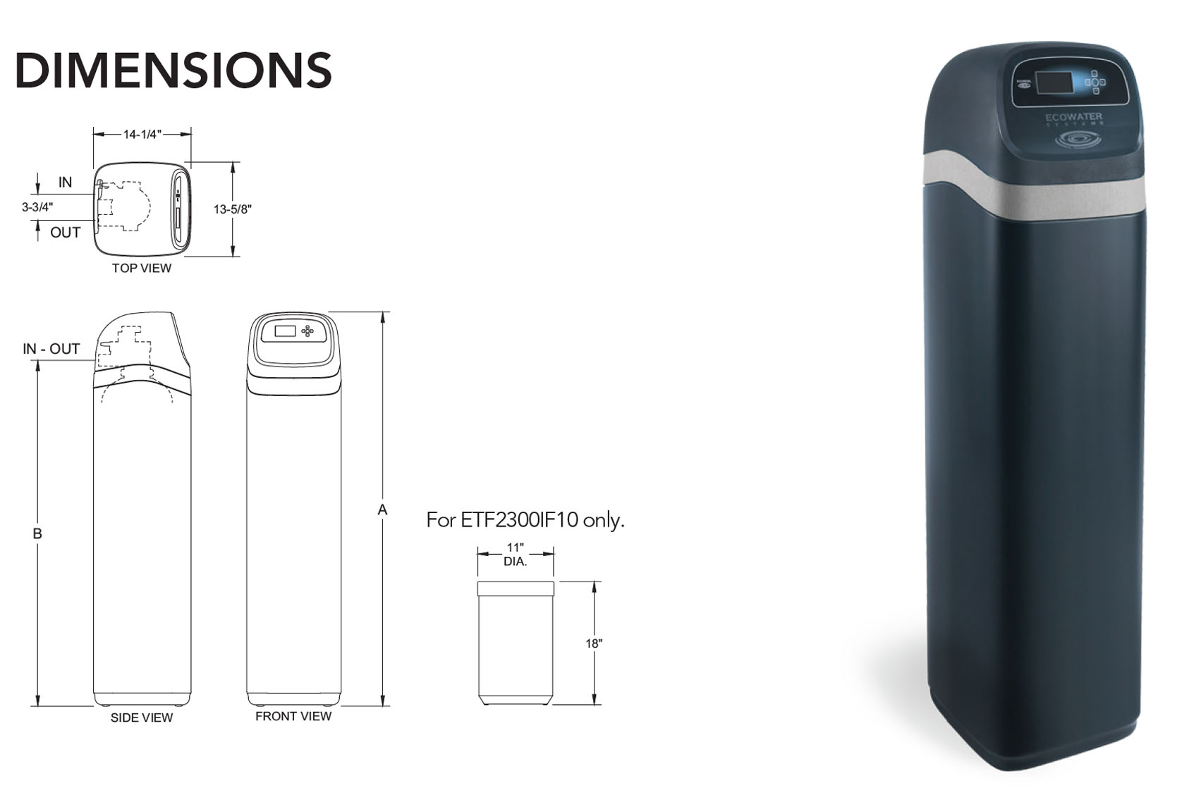 Ecowater ETF2300PF Series - Water Filtration Systems